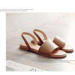 Giày sandal nữ đế bệt có size lớn 35-42 /2 màu size chuẩn
