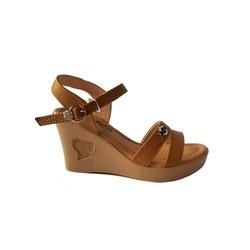 Giày Sandal Nữ Đế Xuồng BIGGBEN Da Bò Thật SĐX36
