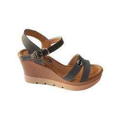 Giày Sandal Nữ Đế Xuồng BIGGBEN Da Bò Thật SĐX33