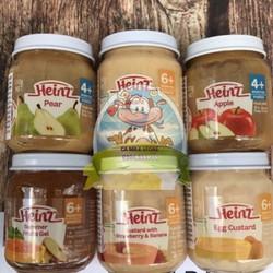 Váng sữa trái cây heinz hũ 110gr cho trẻ ăn dặm từ 4 tháng và 6 tháng