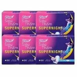 Tặng 12 miếng bvs siêu thấm  cool khi mua 6 gói Băng vệ sinh Diana Super Night Ban đêm 29cm