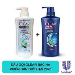 Combo 2 Chai Clear Bạc Hà 480ml Và Clear Men 450ml Thái Lan