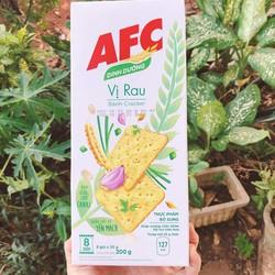 Bánh AFC Dinh Dưỡng 200g(8 gói * 25g) vị rau củ và lúa mì