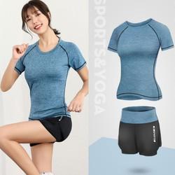 [Video SP Thật] Đồ tập gym nữ, bộ quần áo thể thao tập gym yoga nữ