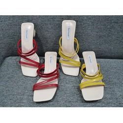 SALE Hè 2020, Giày cao gót juno Đen & Nude cao cấp giá rẻ