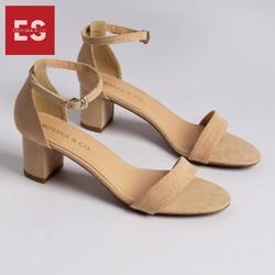 Giày Nữ, Giày Cao Gót Vuông Block Heels Thời Trang Erosska Gót Vuông Phối Quai Mảnh Cao 5 Cm GEB004