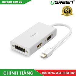 Cáp Thunderbolt - Mini DP To HDMI + VGA + DVI 24+1 Chính Hãng