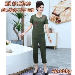 Đồ bộ nữ trung niên U50 thương hiệu THỜI TRANG TRUNG NIÊN BT010