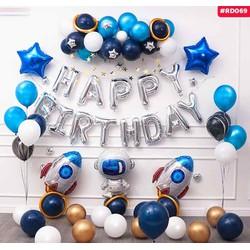 [TRANG TRÍ SINH NHẬT] - Set bóng trang trí sinh nhật Chủ đề Phi hành gia cho bé