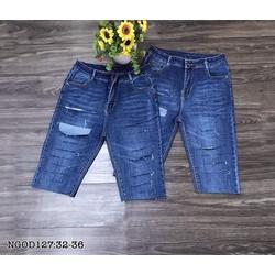 [60kg-95kg] Short Tông Wash đậm rách , - Mix áo lên cực yêu . Bigsize 32-42. Mã NGOD127