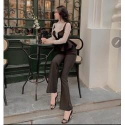 Set áo và quần dài 36-42kg vải đũi xin xắn