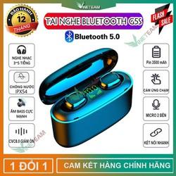 Tai Nghe Bluetooth 5.0 TWS G5S Tự động kết nối Âm thanh 6D Chống ồn CVC8.0 Kèm Hộp Sạc Pin 3500mah