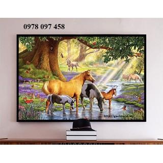 Tranh gạch phong - tranh ngựa - X4444 thumbnail