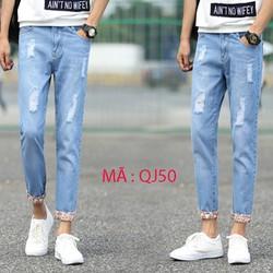 Quần jeans  ông suong nam rách –QJ50