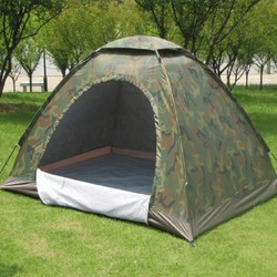 Lều - Lều cắm trại vải dù rằn ri SIÊU dày dặn 2 lớp - LOẠI 1
