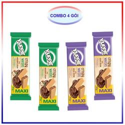 Combo 4 Mix Bánh Xốp Yuppie 90G (2 cacao, 2 hạt dẻ)