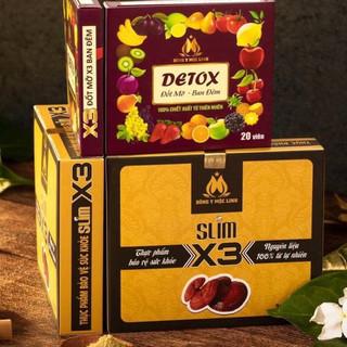 Giảm cân X3 Mộc Linh Mẫu Mới - Giảm cân X3 - Tặng kèm 20v detox ban đêm - 504 thumbnail
