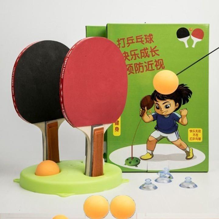 [MIỄN SHIP] Bộ bóng bàn 3 bóng vợt gỗ luyện phản xạ thể dục mọi lúc mọi nơi - BONGBAN7 6