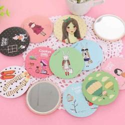 combo 3 Gương Trang điểm Mini xinh xắn phong cách Hàn Quốc