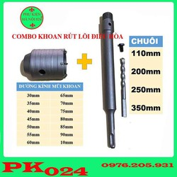 mũi khoan rút lõi - Bộ Mũi Khoét Rút Lõi Điều Hòa Kèm Chuôi 110mm Cao Cấp