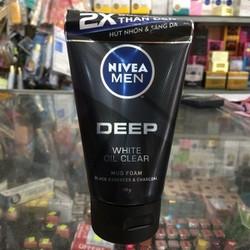 Sữa rửa mặt Nivea Men Deep White Oil Clear 100g