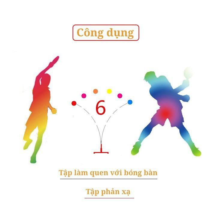 [MIỄN SHIP] Bộ bóng bàn 3 bóng vợt gỗ luyện phản xạ thể dục mọi lúc mọi nơi - BONGBAN7 3