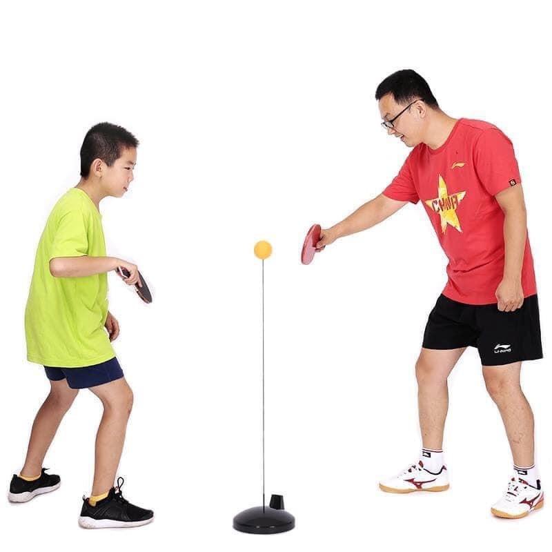 [MIỄN SHIP] Bộ bóng bàn 3 bóng vợt gỗ luyện phản xạ thể dục mọi lúc mọi nơi - BONGBAN7 1