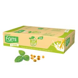 Thùng Sữa đậu nành Fami Nguyên Chất ít đường 200ml x 36 Hộp