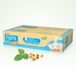 Thùng Sữa đậu nành Fami Canxi ít đường 200ml x 36 Hộp