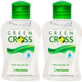 [Nhập SD45R3 giảm 10k] 2 Chai Nước Rửa Tay Khô Green Cross Hương Trà Xanh (100ml/chai) - 1604.01