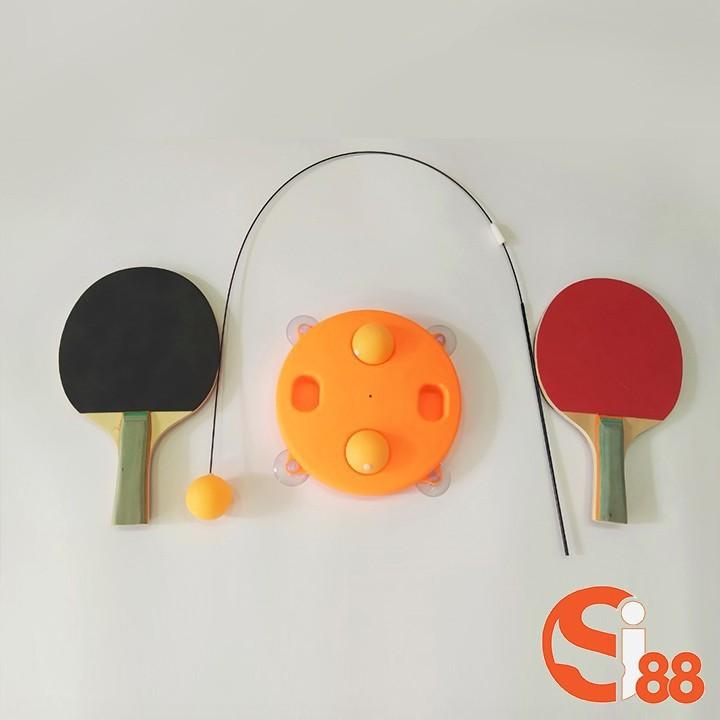 [MIỄN SHIP] Bộ bóng bàn 3 bóng vợt gỗ luyện phản xạ thể dục mọi lúc mọi nơi - BONGBAN7 5