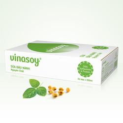 Thùng Sữa đậu nành Vinasoy nguyên chất 200ml x 36 Hộp