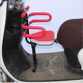 Ghế ngồi xe máy cho bé gấp gọn có tay vịn và rào bảo vệ 2 bên SafeKids (Đen) - ghế gấp cho bé tay vịn