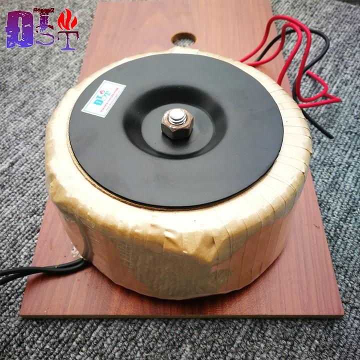 Biến áp xuyến đôi 24V 300W - Kèm tấm gỗ đỡ