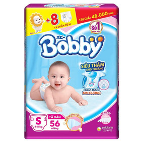 tã dán bobby s56 tặng thêm 8 miếng tã quần M - ta dan so sinh