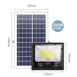 Đèn LED Năng Lượng Mặt Trời JD-8200L Công Suất 200W