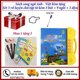 Combo sách song ngữ Anh - Việt tặng kèm sét 3 tập tô bay mực - sách song ngữ tặng sét 3 luyện ch - sách SN tặng sét 3 luyện chữ