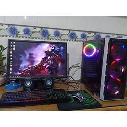 Bộ máy Gaming Led Đẹp Game Online cấu hình cao CPU Core i3 4130 Ram 8G VGA 2G DR5 Màn hình 22in kèm phone phím chuột led và cặp loa Mini