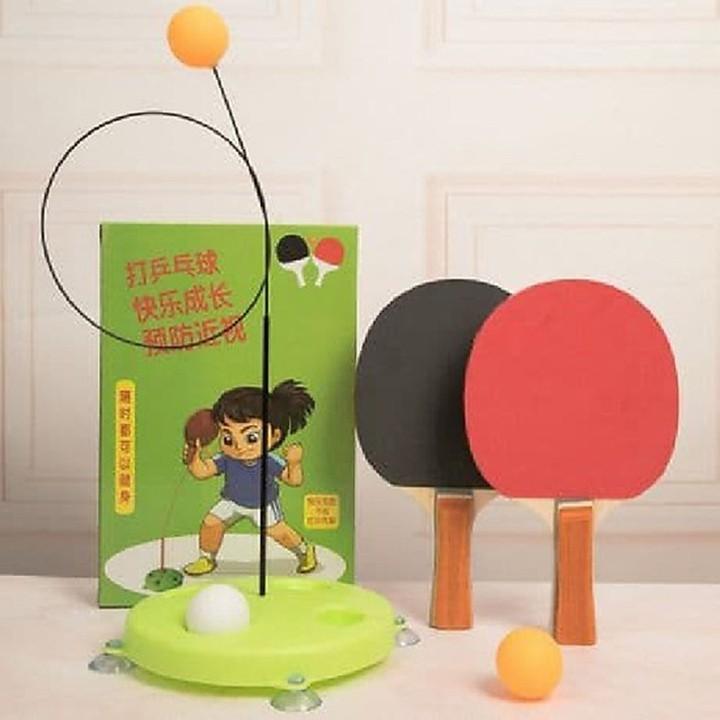 [MIỄN SHIP] Bộ bóng bàn 3 bóng vợt gỗ luyện phản xạ thể dục mọi lúc mọi nơi - BONGBAN7 7