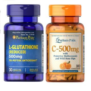 Combo Viên Uống Trắng Da L Glutathione 500Mg 30 Viên Và Vitamin C 500Mg 100 Viên Nén - 5306935571 thumbnail