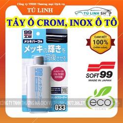 Dung dịch tẩy ố mờ chi tiết mạ Crôm, Inox ô tô Chrome Cleaner - Soft99 - Tạo độ bóng đẹp cho Chrome