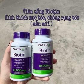 (Hàng có sẵn) Hộp 100 viên Natrol Biotin Beauty 10,000 mcg - hỗ trợ ngăn ngừa rụng tóc và mọc tóc của Mỹ - SK35