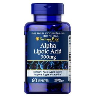 Viên Uống Chống Lão Hóa Trẻ Hóa Da Ngừa Tàn Nhang Làm Sáng Da Puritan S Pride Alpha Lipoic Acid 300Mg 60V - 320106060 thumbnail
