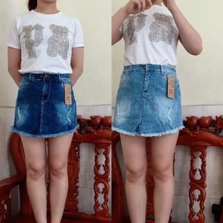 Chân váy jean ( có quần ở trong) - Cv001 thumbnail