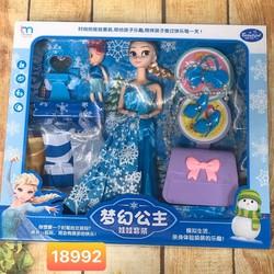 Hộp búp bê khớp Elsa cao cấp kèm phụ kiện túi xách cho bé