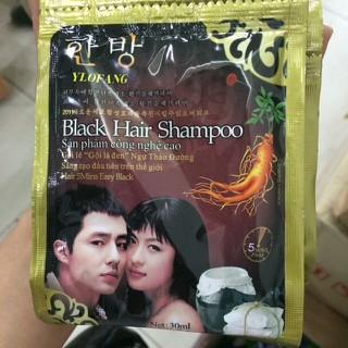 Combo 10 gói dầu gội nhuộm tóc black hair shampoo Hàn Quốc - nhuonden2 thumbnail