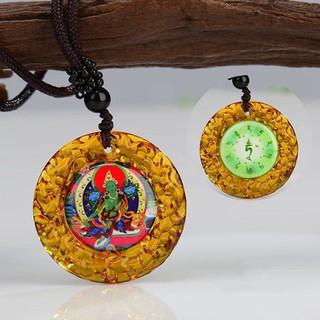 Dây chuyền Quan Âm Độ Mẫu Tara, Lục Độ Mẫu Tara xanh - OM TARE TUTTARE TURE SOHA - xanh thumbnail