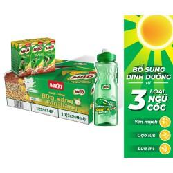 Mua 01 Thùng 30 hộp Nestlé MILO Uống Liền Bữa Sáng -  10 lốc x 3 hộp x 195ml, Tặng  01 bình nước năng động