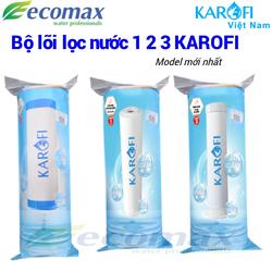 Bộ lõi lọc nước 1 2 3 karofi , lõi lọc nước karofi , bộ lõi lọc nước karofi