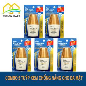 Combo 5 kem chống nắng Sunplay Clear White dành cho da mặt tuýp 5g - 5 Chống nắng vàng